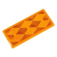"""REFLECTEUR RIGIDE 1-3/8"""" X 3-1/4"""" AMBRE COLLE redirect to product page"""