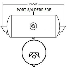 RES. 12X29.5 SUPPORT STD 2 SORTIES 3/4 (ENT. 3/8) redirect to product page