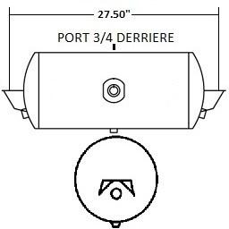 RESERVOIR 9.5X27.5 SUPPORT REG 2 SORT 3/4