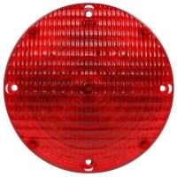 "RED 7"" ROUND BUS LAMP"""